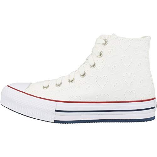 Converse Chuck Taylor All Star Eva Lift Hi Love Ceremony Blanco/Azul (White/Midnight Navy) Algodón 37 EU
