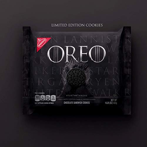 Oreo Limited Edition Game of Thrones Themed Classic Chocolate Sandwich Cookies (15.25 oz. Package), 1 Pack