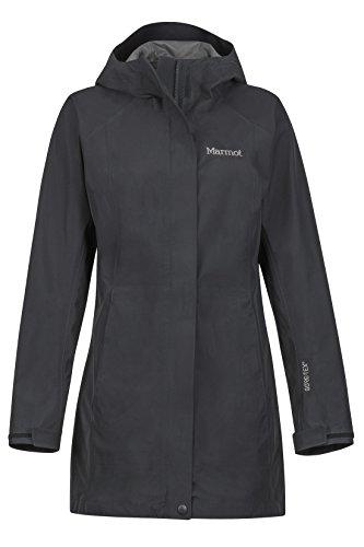 Marmot Regenmantel Hardshell Regenjacke Essential Jacket, wasserdicht, winddicht, atmungsaktiv, schwarz