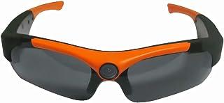 SportXtreme gx-9Gafas con cámara incorporada HD720P para Actividades Deportivas Gran Angular 135° Lentes polarizadas Color Negro/Naranja
