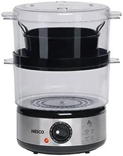 Nesco ST-25F, Food Steamer, 5 quart, 400 watts, Black/Clear