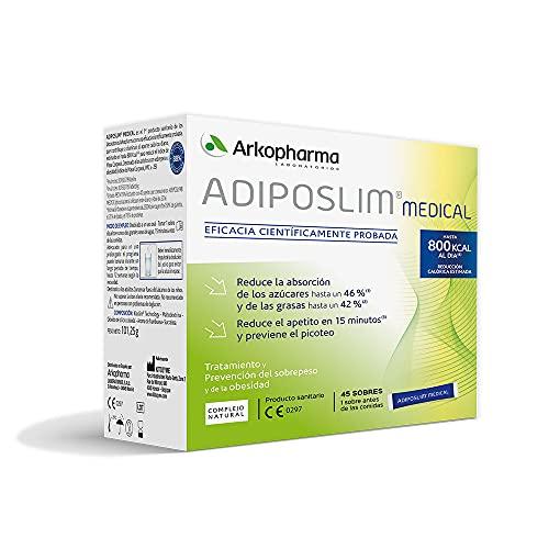 Arkopharma Adiposlim Medical 45 Sobres| Prevención del Sobrepeso |Reduce el Apetito | Saciante | + Asesoramiento Nutricional | Complemento Alimenticio