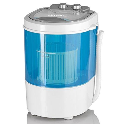 CLEANmaxx 07475 - Mini lavatrice con centrifuga per campeggio, 3 kg, 260 W