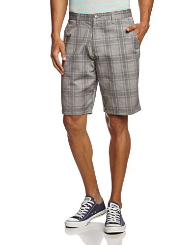 Volcom Herren Kurze Hose Frozen Plaid Reg Chino Shorts, Gunmetal Grey, 26