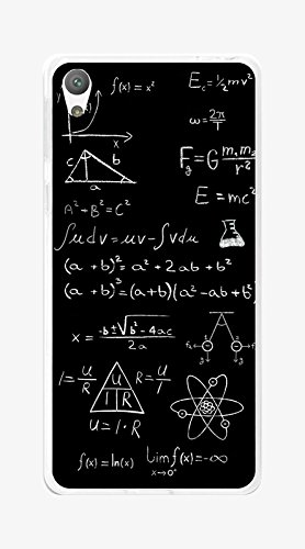 Tumundosmartphone Funda Gel TPU para Sony Xperia E5 diseño Formulas Dibujos