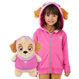 Cubcoats Skye Paw Patrol Toy Stuffed Plushie and 2-in-1 Zip-Up Kids Hoodie Pink
