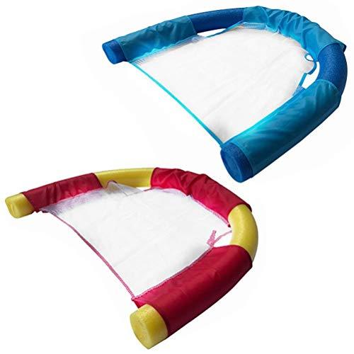 Schwimmbad Schwimmender Stuhl,2 Stück Schwimmende Wasser Bett Matte Wassersitz für Pooln für Kinder Erwachsene