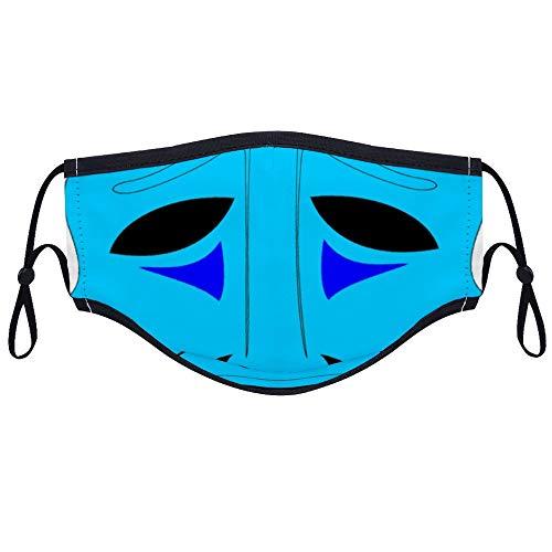 Dkisee Komfortable Gesichtsmaske Drama Clipart Theater Faces Tragdy Maske Clipart Anti-Staub Mundmaske mit zwei Filtern wiederverwendbar Outdoor Schutzmaske für Erwachsene und Jugendliche