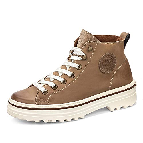 Paul Green Damen Super Soft Schnürboots, Frauen High Top Sneaker, sportschuh Sneaker-Stiefelette mid-Cut weiblich Lady,Braun,4 UK / 37 EU
