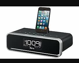 iHome iDL95 Lightning Dock Clock Radio and USB Charge/Play for iPad/iPod, iPhone 5/5S, 6/6Plus 7/7Plus , iPad Air, and iPad Mini (Black)