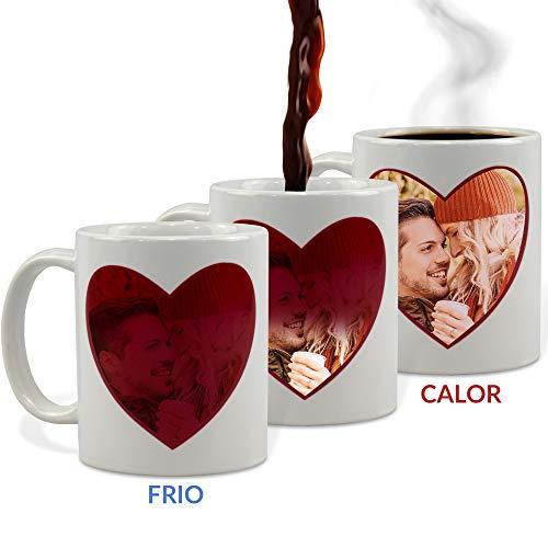Taza Mágica Enamorados Personalizada con tu Foto/Diseño/Texto/Nombre