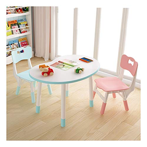 CHAXIA Chaise De Table Enfant Ensemble Jane À Propos De Pois Apprentissage Table De Jeu Hauteur Ajustable, Contenir 1 Table 2 Chaises (Color : Blue)
