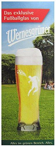 Rastal Wernesgrüner - Fußballglas - Bierglas 0,3. l