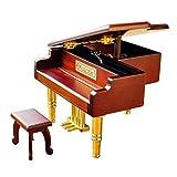 Caja de música Piano Caja de música Amantes de la música Navidad Niños Señoras Regalos Caja de música de Metal, práctica