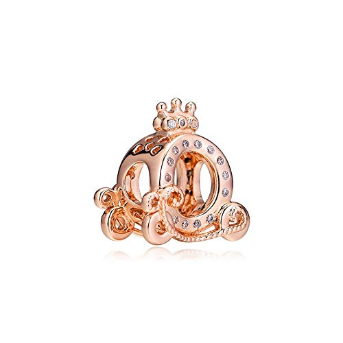 Rose Crown O Carriage Charms 925 Original Fit Pandora Bracelet Sterling Silver Beads For Jewelry Making Jewellery