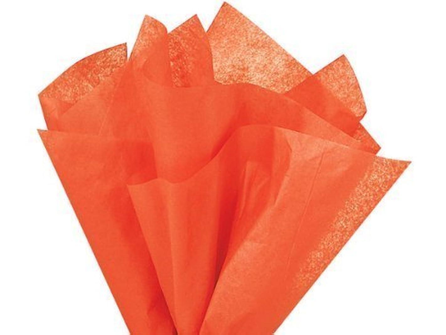 Bulk Orange Tissue Paper 20 Inch x 30 Inch - 48 XL Sheets