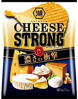 湖池屋 チーズストロング CHEESE STRONG ポテトチップス X1箱(12袋)
