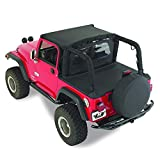 RAMPAGE PRODUCTS 90035R Windbreaker for 1980-2006 Jeep CJ, Wrangler YJ & TJ, Black Diamond