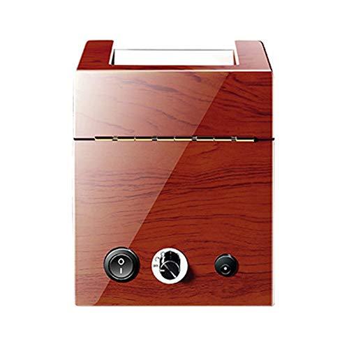 ZCXBHD Caja giratoria automática de reloj 1 reloj automático de piel sintética con motor silencioso, 5 modos, sin ruido, 10 dp, diseño antimagnético, ventana