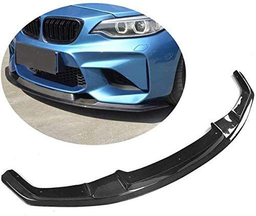 CHENGQIAN Apto para BMW F87 M2 Coupe 2 Puertas 2016-2019 Fibra de Carbono CF alerón de Barbilla Frontal Divisor de Parachoques Kits de Cuerpo de Labio Delantero