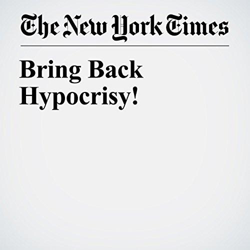 Bring Back Hypocrisy! cover art