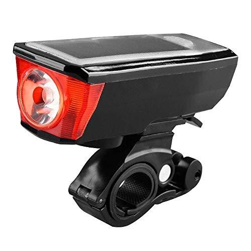 SMX fietslamp, waterdichte led-fietslamp, multifunctioneel, met luidspreker, set 4 modi, cyclus 2000 mAh, lithium batterij, koplamp, waarschuwing, knipperlicht, helm