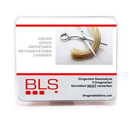 Drogentest Haaranalyse - 5 Drogenarten AMP, METAMP, COC, OPI & CAN - Multi Drogen Labor Analyse der Haare - Diskret, Schnell & Sicher - Als MPU Vorcheck - gerichtlich nicht verwertbar