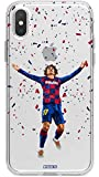 MYCASEFC Coque Foot Griezmann Barcelone iPhone 6/6S en Silicone Transparent. Protection Fine de Football pour téléphone. Fabriquée en France
