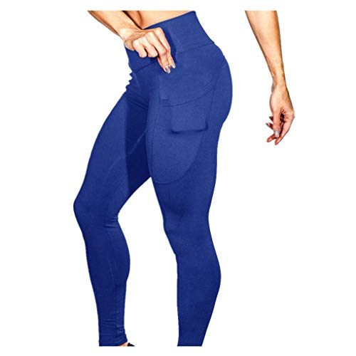 Dorical Damen Yogahose Hoher Bund Einfarbig Tasches Hosen Damen High Waist Fashion Leggings Workout Dünne Hosen lang Sport Fitness Workout...