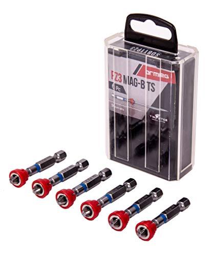 Armeg SDBTTPZ3 Mag Bits 6 delig PH2 magnetische kraag Tic Tac Box, meerkleurig