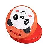 dontdo Niños Educativos Música Juguetes Dibujos Animados Rana Panda Animal Niños Niños Madera Castañuelas Juguete Regalo de Navidad Color al azar