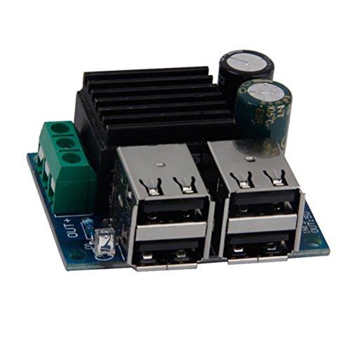 WINOMO DC-DC 9V 12V 18V 20V auf 5V Heruntergehen Schaltreglermodul Abwärtswandler mit 4 USB Ports