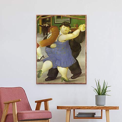 fdgdfgd Arte Bailarina Pareja Lienzo Pintura Carteles e Impresiones Sala de Estar Pared Arte Mural Imagen decoración