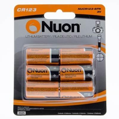 Nuon - (6 Pack) NUCR123-6PK 3V CR123 Lithium Battery