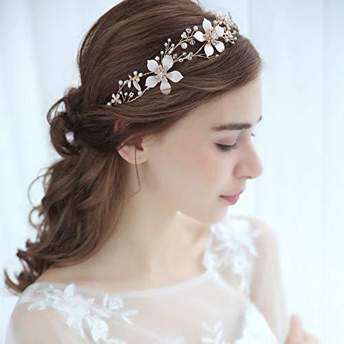 Deniferymakeup, diadema de novia, diseño floral, para novia, novia, novia, accesorio para el pelo, flores, diadema,...