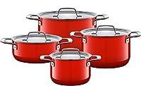 Silit Zeno シリット Cookware set 鍋 4個セット Loft Red 【並行輸入品】