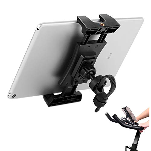 Bike Tablet Holder, Portable Bicycle Car Phone Tablet Mount for Indoor Gym Treadmill, Microphone Stands, Microphone Tablet Holder, Exercise Bike for iPad, iPad Pro, iPad Mini, 2, 3, iPad Air, iPhone