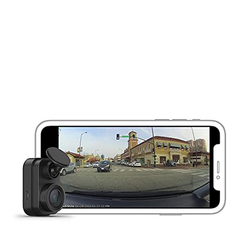 Garmin Dash Cam Mini 2, Tiny Size, 1080p and 140-degree FOV, Monitor Your Vehicle While Away w/ New Connected Features, Voice Control