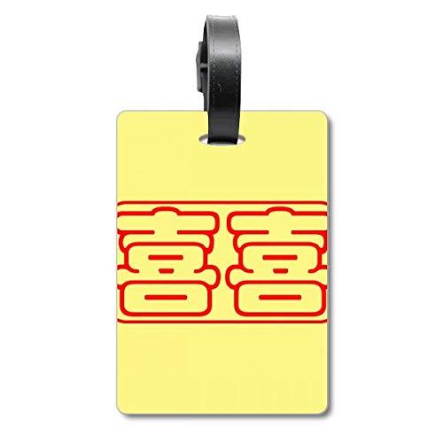 Etiqueta de identificación para Maleta de Boda o celebración China con Texto en inglés Wish Words...