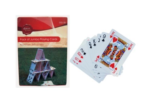 PACK OF GIANT A3 PLAYING CARDS OUTDOOR FAMILY BBQ SUMMER FUN POKER DECK by Hamble