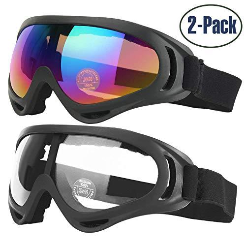 Gafas de Esquí, 2-Pack Gafas de Esquiar