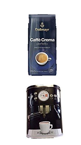 Dallmayr Crema for you perfetto mild und aromatisch 1.000g in Bohne NEU noch mehr Crema … + + Kaffeedose neu 3 D Design schwarz