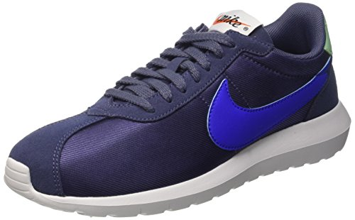 Nike Womens Roshe One Fabric Low Top Lace Up Running Sneaker, Blue, Size 7.5