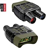 COOLIFE Binocular de visión Nocturna Digital para Caza, Alcance de visión Nocturna por Infrarrojos de 984 pies y Video HD Image 960P, LCD TFT de 2.31' con Tarjeta de 32GB