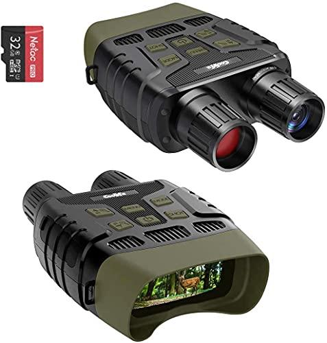 COOLIFE Binocolo Visione Notturna con LCD TFT 2,31',Fotocamera Digitale a Infrarossi (IR) ad alta Portata fino a 300 m / 984ft per Foto e Registrazione Video(con Scheda Memoria 32G)