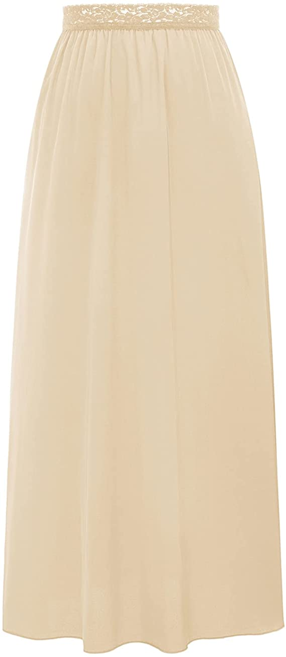 1940s Lingerie- Bra, Girdle, Slips, Underwear History Kate Kasin Half Slips Anti Static for Women Underskirt with Lace Trim  AT vintagedancer.com