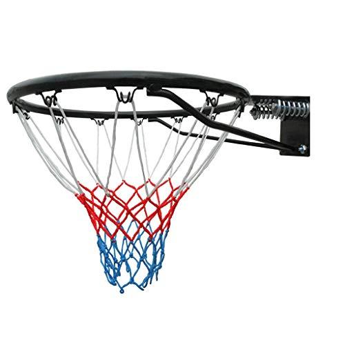 Chenhan Wand Basketball-Reifen Netzring-Wand montiert Indoor Outdoor Hanging Hängendes Basketballziel mit 2 Basketballnetz und 4 Schrauben Basketballkorb (Color : Black, Größe : Lightweight)