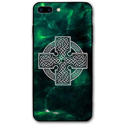 Square Celtic Cross iPhone 7 Plus Case iPhone 8 Plus Case 5.5', iPhone Case Soft TPU Anti-Scratch Protective Cover for iPhone 7/8 Plus