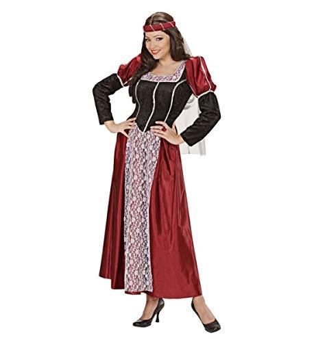 Widmann 35482 – Erwachsenenkostüm Burgfräulein, Kleid mit Kopfbedeckung und Schleier - 4