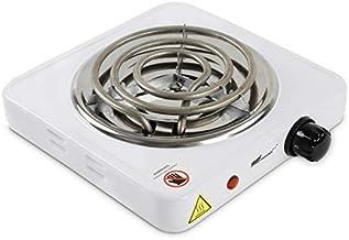 broil-master® Allume Charbon - Électrique, 1000 W, Thermostat 5 Positions, Protection Surchauffe, en Blanc - Plaque Chauff...